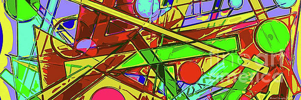 Abstract Pop Art - Deconstruction - AMCG20190516 by Michael Geraghty