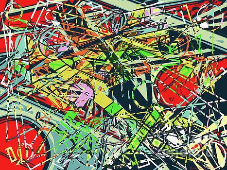 Abstract Pop Art - Smasherati - AMCG20190514 by Michael Geraghty