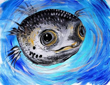 Abstract Puffer Fish, Two by J Vincent Scarpace
