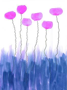 Abstract purple flowers by Steve Clarke