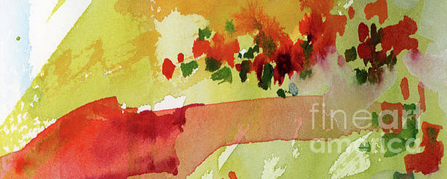 Ginette Callaway - Abstract Red Poppies Panorama