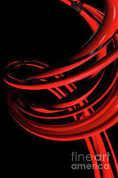 Benjamin Harte - Abstract Red Spiral