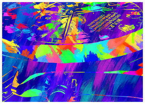 Abstract Rolex Digital Paint 4 by Ricky Barnard