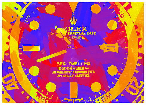 Abstract Rolex Digital Paint 8 by Ricky Barnard