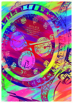 Abstract Rolex Digital Paint 9 by Ricky Barnard