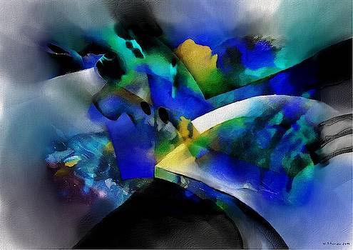 Wolfgang Schweizer - abstract scenery blue yellow