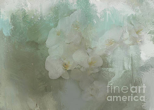 Abstract Tropical Flora by Kelley Freel-Ebner