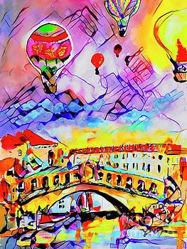 Ginette Callaway - Abstract Venice Rialto Bridge Balloons