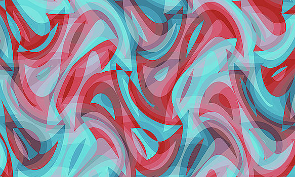 Abstract Waves Painting 007564 by P Shape