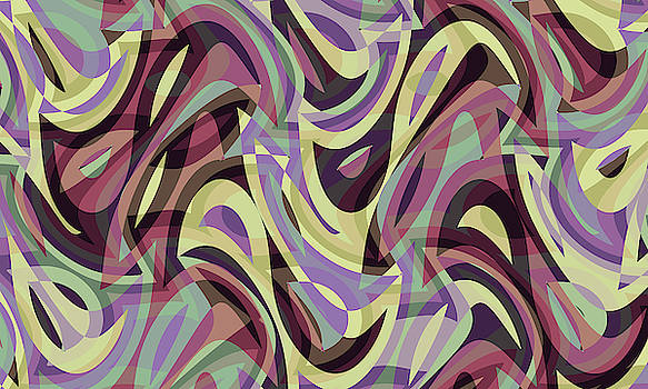 Abstract Waves Painting 007577 by P Shape