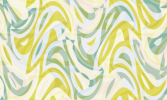 Abstract Waves Painting 007592 by P Shape