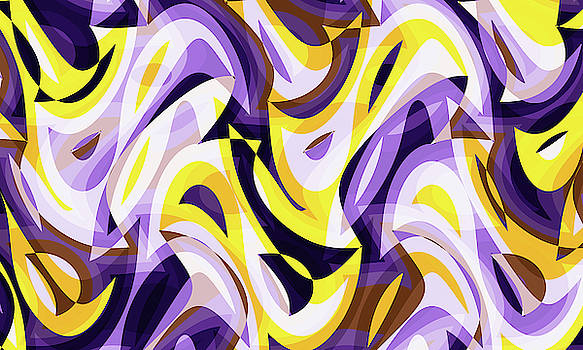 Abstract Waves Painting 007597 by P Shape