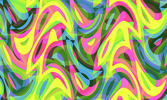 Abstract Waves Painting 007604 by P Shape