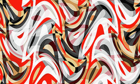 Abstract Waves Painting 007605 by P Shape