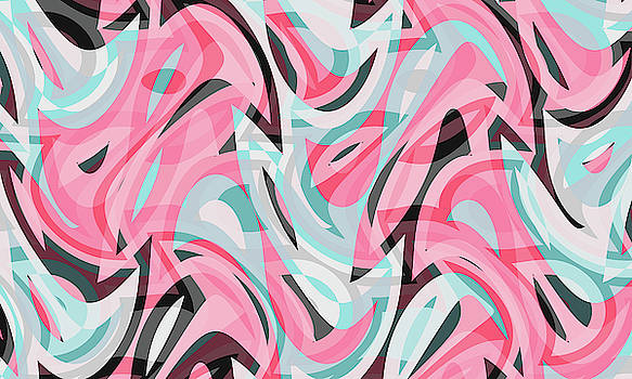 Abstract Waves Painting 007613 by P Shape