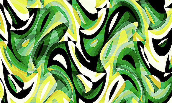 Abstract Waves Painting 007617 by P Shape