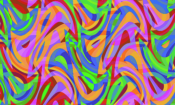Abstract Waves Painting 007625 by P Shape