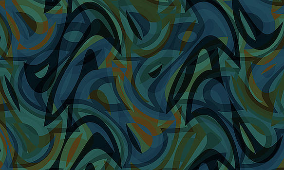 Abstract Waves Painting 007626 by P Shape