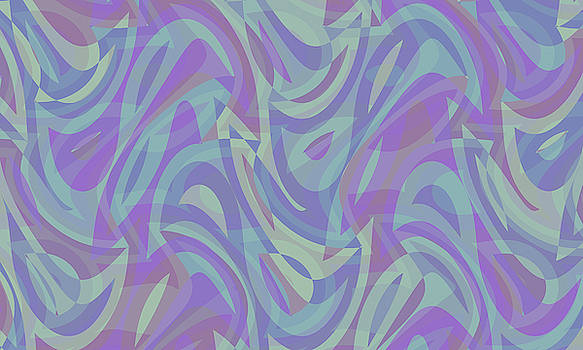 Abstract Waves Painting 007633 by P Shape