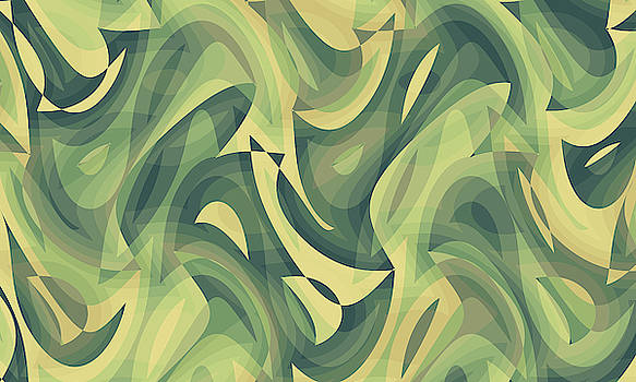 Abstract Waves Painting 007637 by P Shape