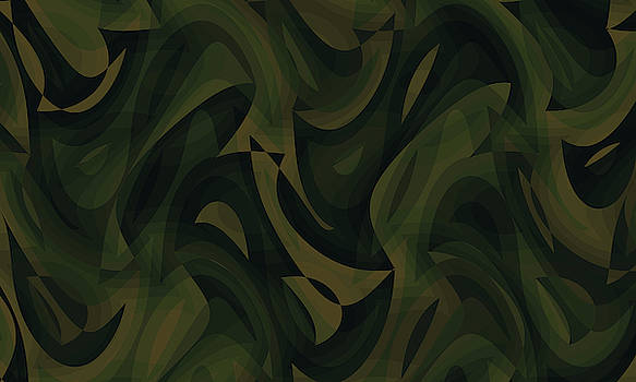 Abstract Waves Painting 007638 by P Shape