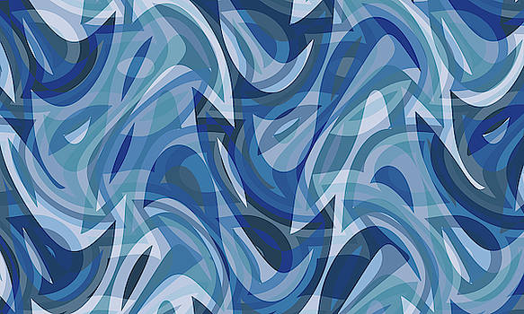 Abstract Waves Painting 007639 by P Shape