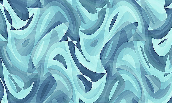Abstract Waves Painting 007640 by P Shape