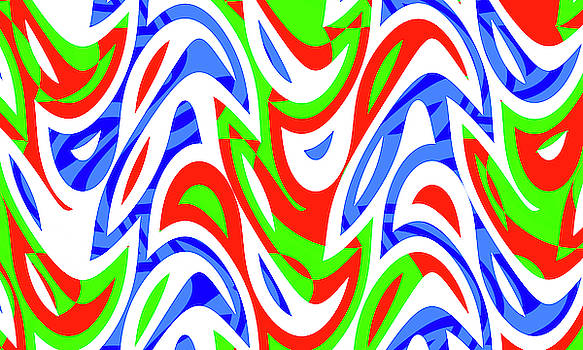 Abstract Waves Painting 007657 by P Shape