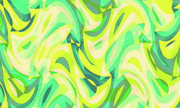 Abstract Waves Painting 007658 by P Shape