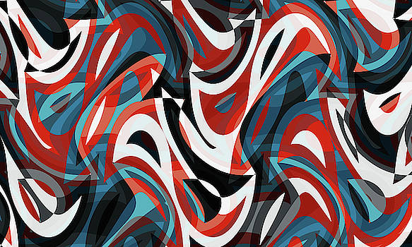 Abstract Waves Painting 007662 by P Shape