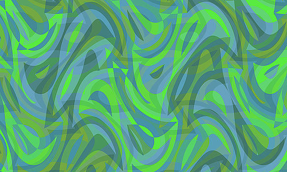 Abstract Waves Painting 007665 by P Shape