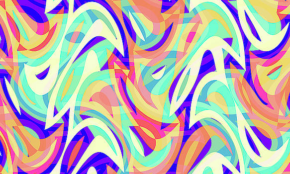 Abstract Waves Painting 007666 by P Shape