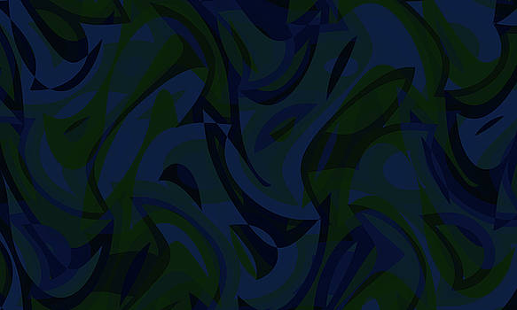 Abstract Waves Painting 007669 by P Shape