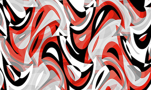 Abstract Waves Painting 007670 by P Shape