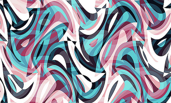 Abstract Waves Painting 007678 by P Shape