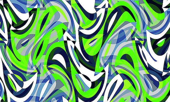 Abstract Waves Painting 007684 by P Shape