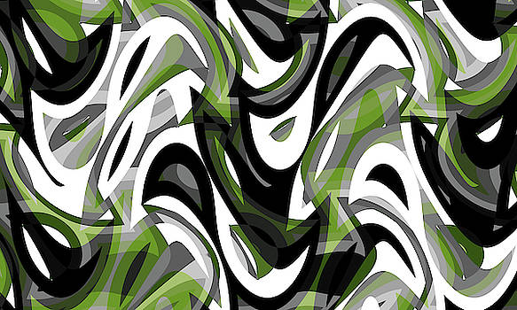 Abstract Waves Painting 007685 by P Shape