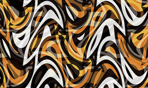 Abstract Waves Painting 007688 by P Shape