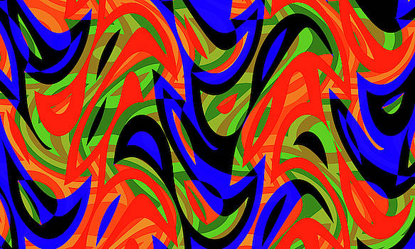 Abstract Waves Painting 007689 by P Shape