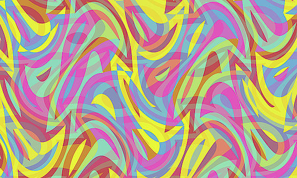 Abstract Waves Painting 007712 by P Shape