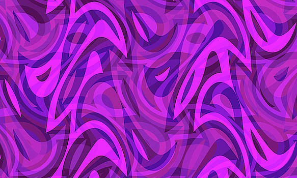 Abstract Waves Painting 007714 by P Shape