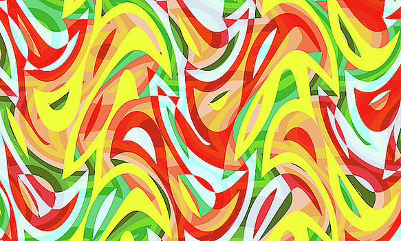 Abstract Waves Painting 007721 by P Shape