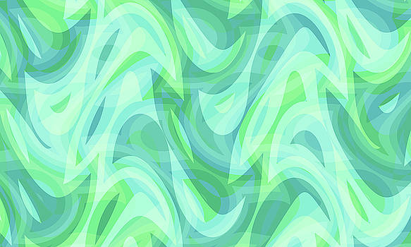 Abstract Waves Painting 007726 by P Shape
