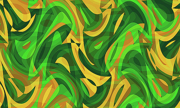 Abstract Waves Painting 007735 by P Shape