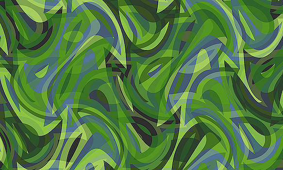 Abstract Waves Painting 007737 by P Shape