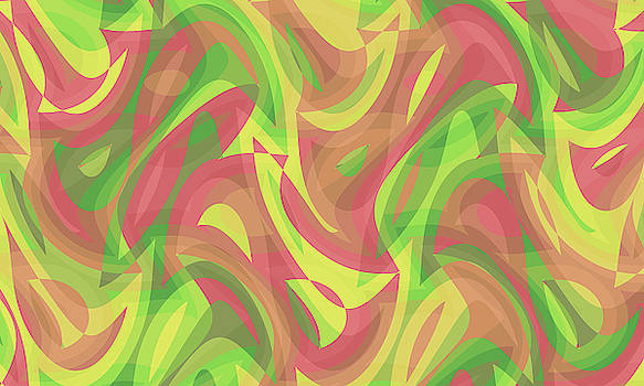 Abstract Waves Painting 007763 by P Shape