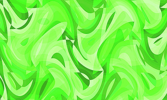 Abstract Waves Painting 007766 by P Shape