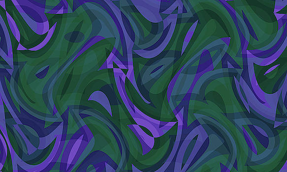 Abstract Waves Painting 007767 by P Shape