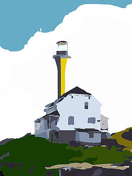 Abtract Light House  by Cathy Harper