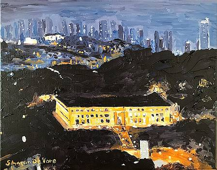 Admin Bldg Balboa CZ and Panama City Panama by Sharon De Vore